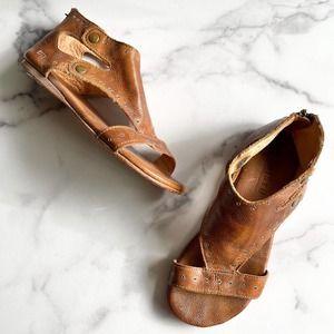 Bed Stu Soto Sandal Shoe Leather Tan Rustic Size 7
